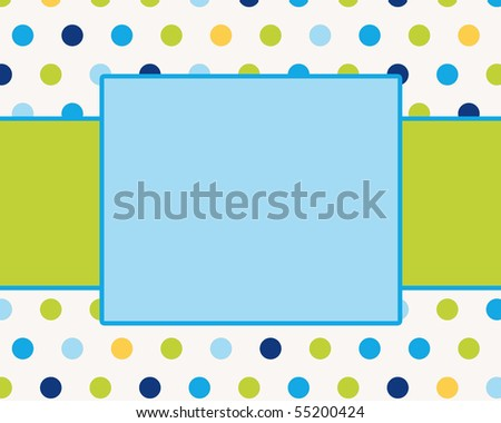 Groovy Summer Dots Card Background Template