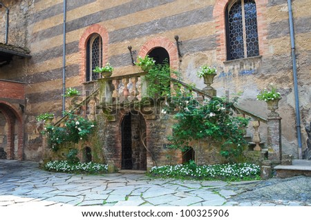 Gropparello Castle. Emilia-Romagna. Italy. - stock photo