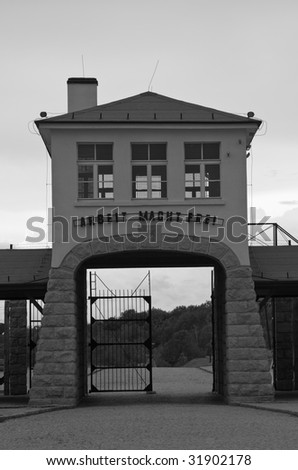 Gross-Rosen Nazi concentration camp - main gate