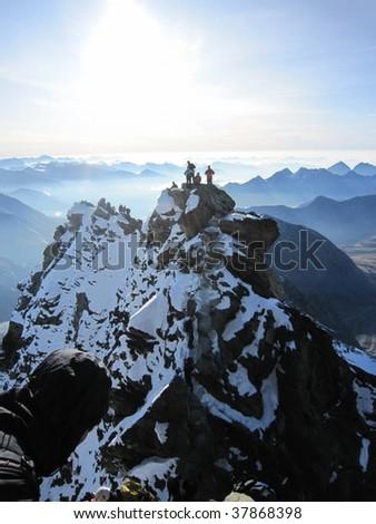 Grossglockner Climbing - stock photo