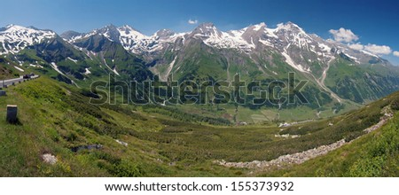 grossglockner street - stock photo