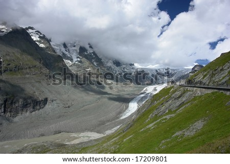 Grosslockner Glacier in the Alps, Austria