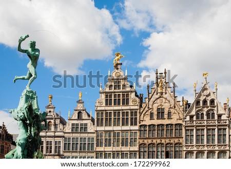 Grote Markt Antwerp  - stock photo
