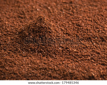 ground coffee in the photo - stock photo