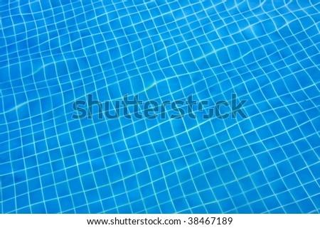 Ground of swimmingpool - stock photo