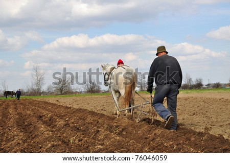Ground processing - stock photo