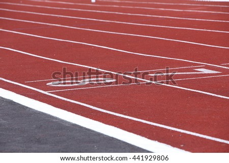 Ground Running, track running , start and number line , Backgrounds - stock photo