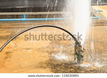 ground water clean pipe by  air compressor