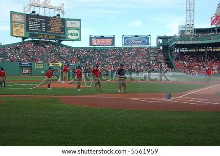 Grounds crew, Fenway Park, Boston, MA