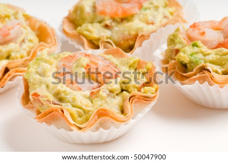 Group avocado shrimp volauvent volauvent tiny stock photo for What does canape mean in french