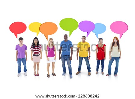 Group Discussion - stock photo