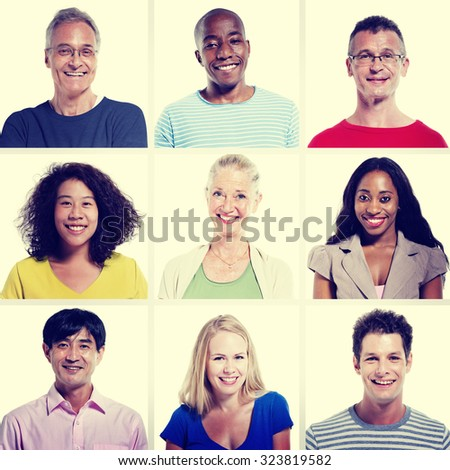 Group Diversity People Community Happiness Concept