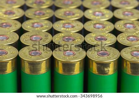 group hunting cartridges for shotgun - stock photo
