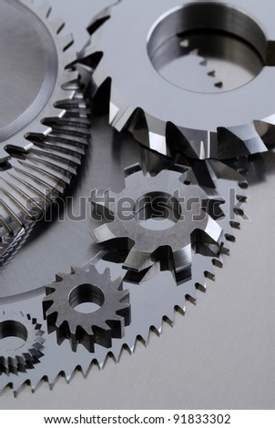 group Milling disk, close up - stock photo