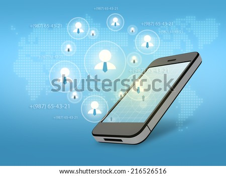 Group network for a successful business in a smartphone