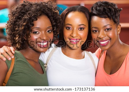 group of beautiful female college friends  - stock photo