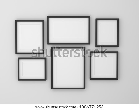 Group Blank Empty Picture Frame On Stock Illustration 1006771258 ...