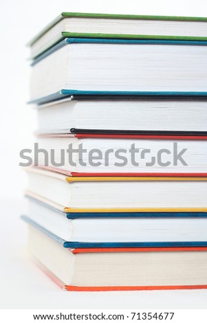 Group of books, isolated