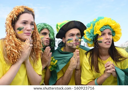 Group of Brazilian soccer fans concerned with the performance of the national team.