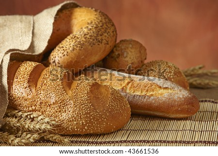 group of bread - stock photo