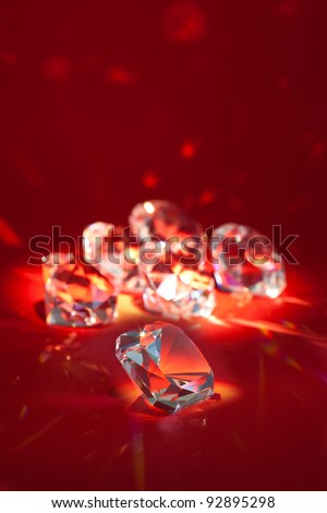 Group of brilliant diamonds - stock photo
