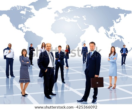 group of busi - stock photo