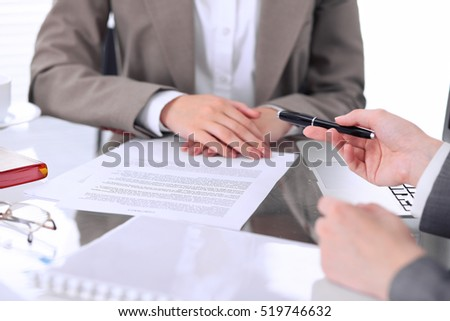 Closeup Image Firm Handshake Between Two Stock Photo