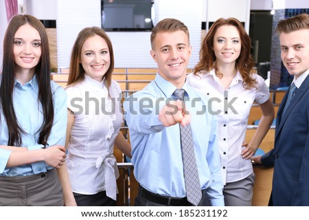 Group of business people at conference hall