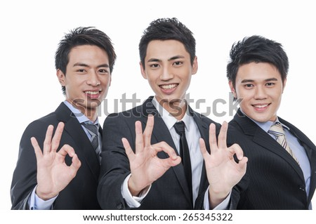 Group of business people. Business team .hands showing ok - stock photo