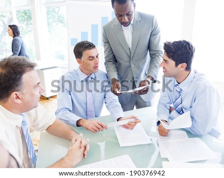 Group of Business People Discussing New Project  - stock photo
