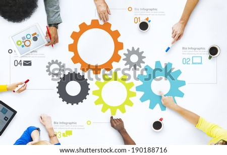 Group of Business People Discussing Teamwork - stock photo