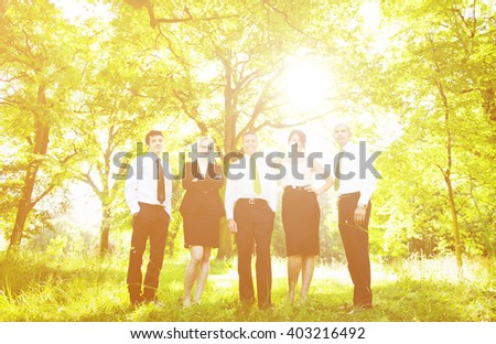 Group of Business People get Relaxing Outdoors Concept