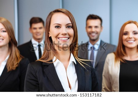 Group of business people. Human resource concept.