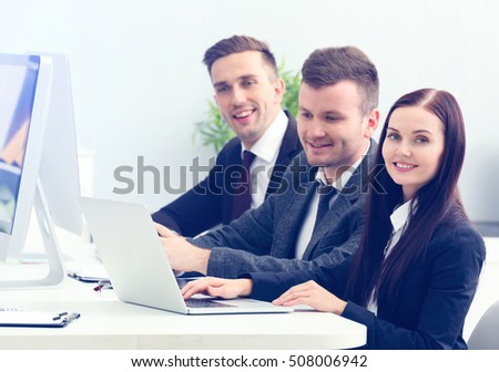 Group of business people in meeting at office