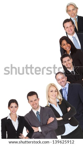 Group of business people. Isolated on white - stock photo