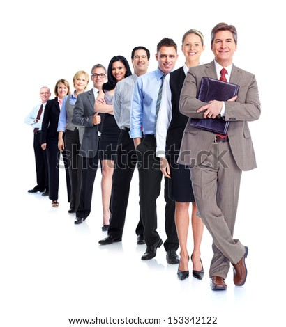 Group of business people. Isolated over white background. - stock photo
