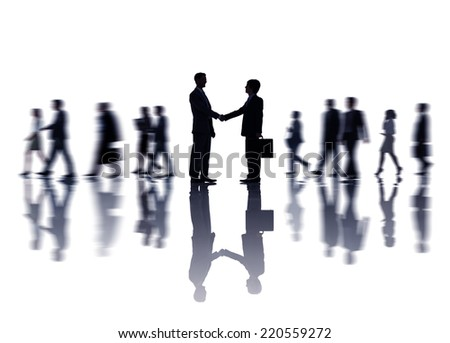 Group of Business People Making Handshake - stock photo
