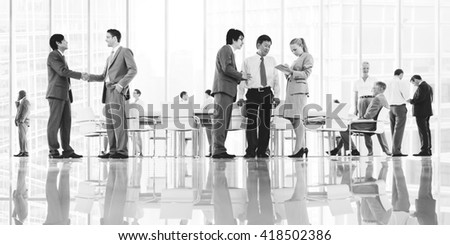 Group of Business People Meeting Office Concept - stock photo