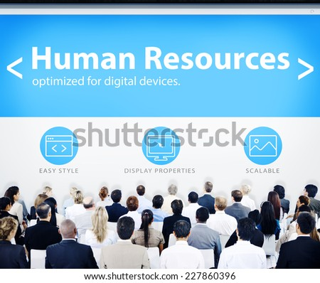 Group of Business People Seminar Human Resources Concept - stock photo