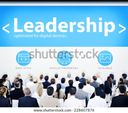 Group of Business People Seminar Leadership Concept - stock photo