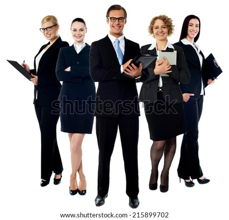 Group of business people standing together - stock photo