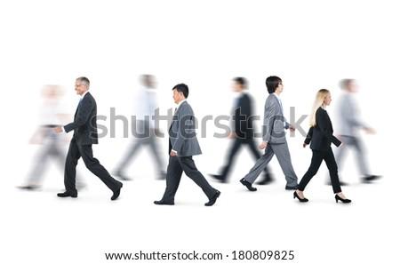People Walking Side View Png