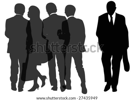 group of businessmen and businesswoman