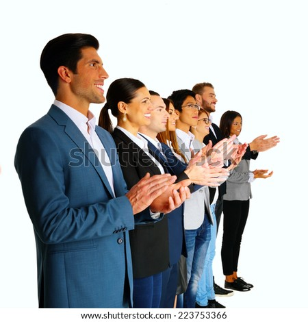 Group of businesspeople applauding - stock photo