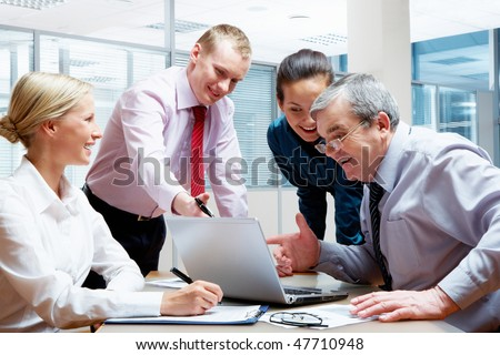 Group of businesspeople  discussing work in the office