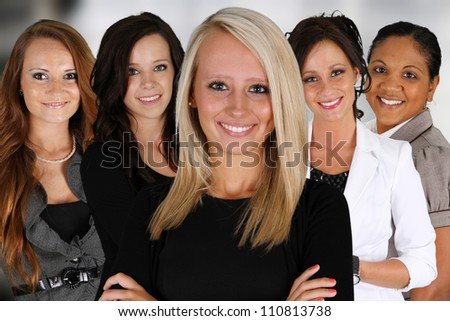 Group of Businesswoman standing in their office