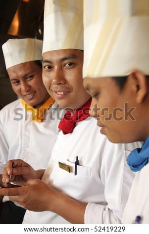 group of chef - stock photo
