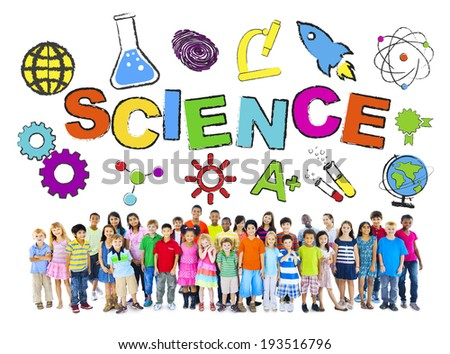 Group of Children with Science Concept - stock photo