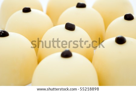 Group of chocolate sweets. Short depth-of-field - stock photo