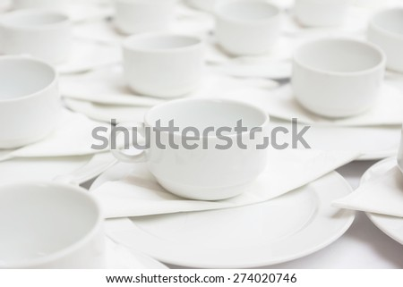 Group of coffee cups - stock photo
